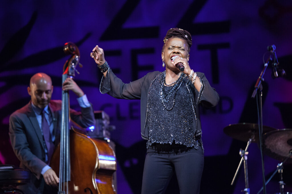 Catherine Russell at the 2021 Tri-C JazzFest Cleveland (photocredit: Janet Macoska)
